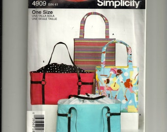 Simplicity Bags Pattern 4909