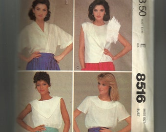 McCall's Misses'  Tops Pattern 8516