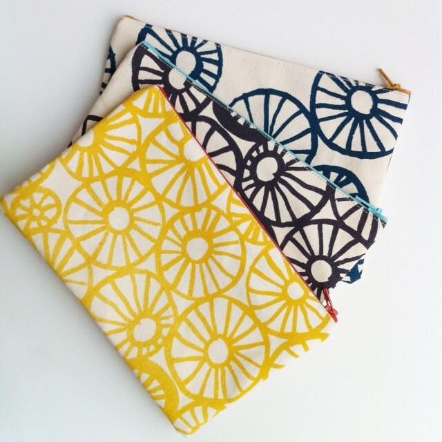 Anemone Print Zipper Bag Anna Joyce