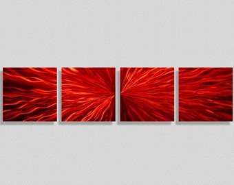 Red Painted Metal Wall Art - Abstract Metal Painting - Home Decor - Wall Accent - Wall Sculpture - Artwork - Red Obsession by Jon Allen