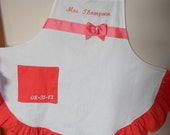 Custom made ruffled apron  colors of choice.