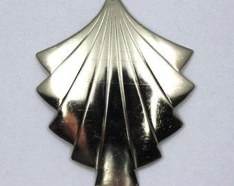 48mm Silver Art Deco Fan (2 Pcs) #38
