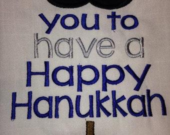 Custom Hanukkah long sleeved tee boy or girl Holiday