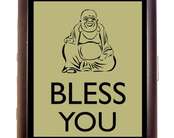 Hipster Buddha Bless You Cigarette Case Wallet Business Card Case Sweetheartsinner Kawaii