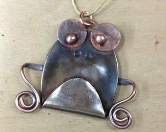 Spoon Frog Ornament