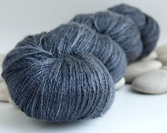 Swiss Silk Lace Yarn - Nearly Solid, 980yds - After Midnight