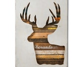 Virginia Den Custom Deer Head Silhouette Art