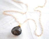 Labradorite Teardrop Necklace. Edisto Collection. Gold Filled or Sterling Silver Chain. Bridesmaids Necklace.