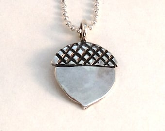 Acorn Dime or Quarter Pendant made from Silver Coin