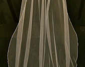 Wedding Veil Swarovski Crystal Rhinestone Silk Pencil Edge Trim 110 Inch Long Sheer Cathedral Length Bridal Veil