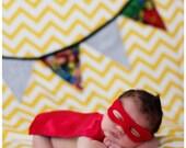 Newborn Super Hero Costume Photo Prop (Bib Style)