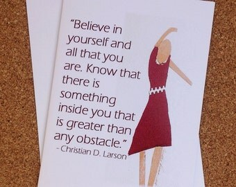 Motivational Greeting Card for Believing In Yourself