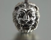 LION'S HEAD designer silver pendant