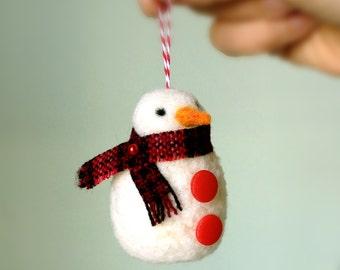 Ornament - Felted Wool Snowman