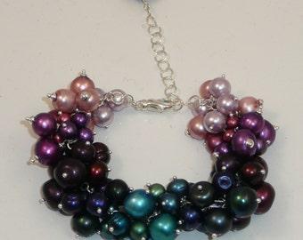 French Quarters freshwater pearl charm bracelet