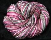 PRE-ORDER WATERMELON  Seeded Sparkly Patterned Sock Yarn ..Self-Striping.. Superwash..