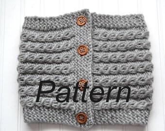 Gray Skies Cowl PDF Knitting Pattern