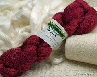 Hand painted Vivacot Bamboo yarn, 2.8 oz, Maroon