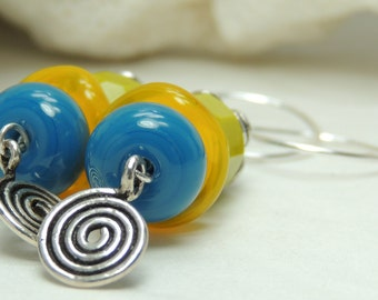 GROWTH SPURT Handmade Lampwork Bead Dangle Earrings
