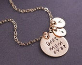 Personalized Mother's Day Gift, Gold Best Mom Ever Necklace, Mother's Charm Necklace, Mom Jewelry