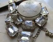 Anna Wintour Necklace, statement necklace, collet necklace, diamond necklace, clear crystal necklace, statement bridal necklace.