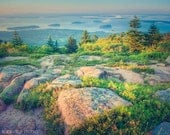 Maine Landscape Photo, Acadia National Park, Nature Photography, Fine Art Print, Wall Art, Cadillac Mountain, Maine Coast, 5x7 8x10 or 11x14 - RockyTopPrintShop