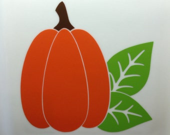 5 inch Harvest pumpkin decor vinyl decal for plates, containers, windows, and more