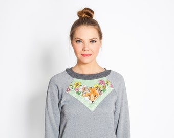 women's grey fox bamboo fleece sweatshirt