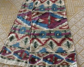 Vintage Bill Blass Icat Oblong Silk Scarf