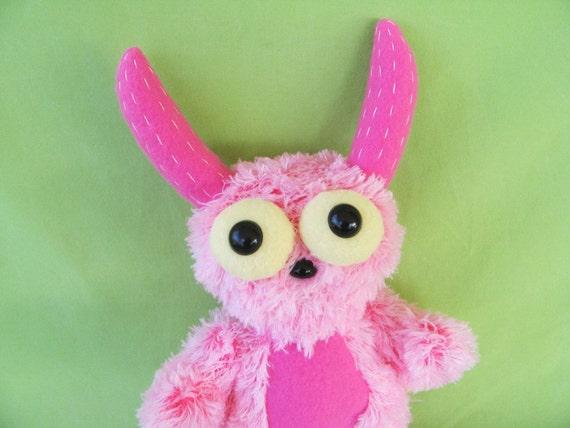 Girl Monster Doll - Stuffed Animal - Child Toy - Fun Play - Plushie Monster - Monster Lovie - Monster Doll - Monster Plush - Monster Softie