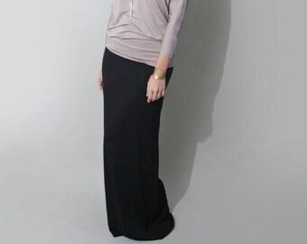 Tall Length Maxi Skirt • Black Maxi • Long Length Maxi • Women's Floor Length Skirts • Loft 415 Clothing (No. 100)