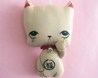 Little Kittie Plush Ornament - Lucky