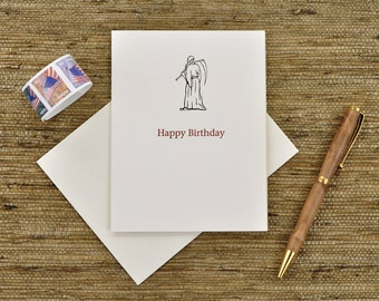 Happy Birthday Card, Letterpress Printed