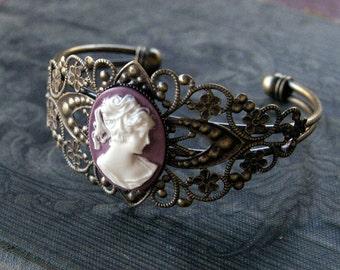 Cameo Lady  Cuff Bracelet