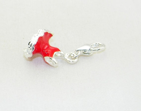 enamel dress lobster claw charm for link bracelets and