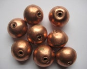 5 Ethiopian Copper spacer beads, Large copper beads, copper spacers, rustic beads, African beads