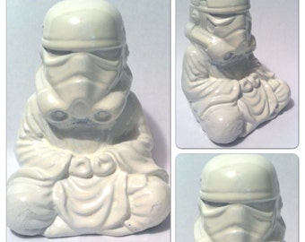 Gloss White  Zen Trooper Custom Buddha stormtrooper original  Sculpt and cast