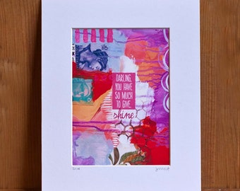 Matted print - So Much To Give