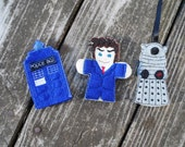 Whovian Finger Puppets (set of 3)