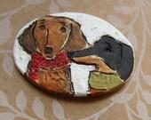 Dachshund Duo Dog Ornament