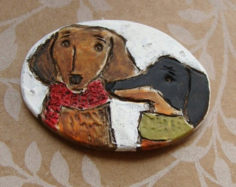 Dachshund Duo Dog Ornament