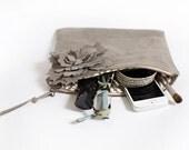 Slouchy suede clutch, leather purse, boho chic handbag, bohemian accessory