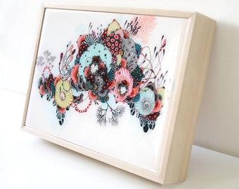 Biome - Resin-Coated Print on Wood Panel