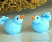 Lampwork Blue Bird Bead
