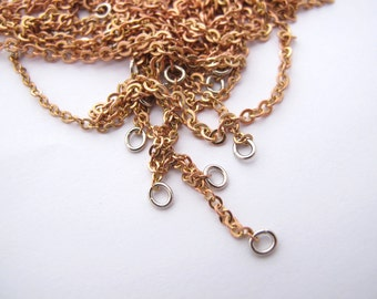 Shiny Vintage Red Brass Flat Cable Chain Necklace Findings (31 inches) (4x) (C579-A)