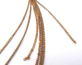 Vintage Brass Curb Chain - Soldered (12 Feet) (C607-A)