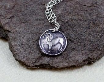 Aries Pendant - Fine Silver