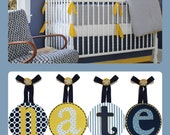 Kids Baby Children Nursery HANGING WALL LETTERS