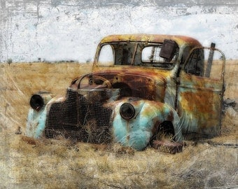 Digital Print Instant Download 16x20 print  Digital Download Rusty Truck  Commercial Use Digital Graphics Digital Paper