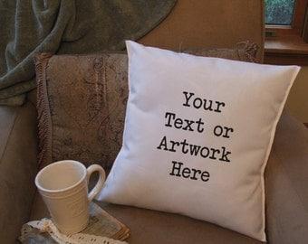 Custom pillow cover, custom text pillow cover